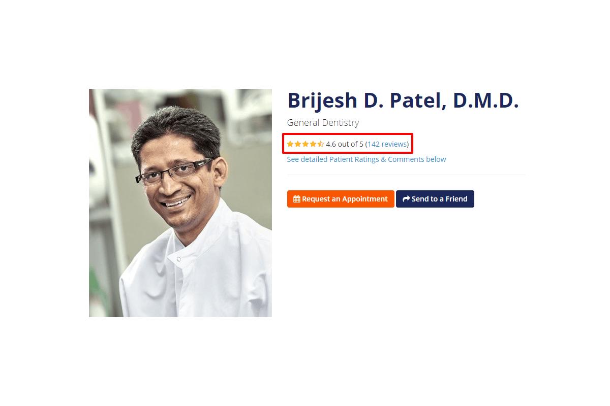 Dentist ratings